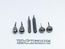 TKO Tungsten Drop shot weights (Finesse, TearDrop & Round) FAST Shipper! 6 sizes