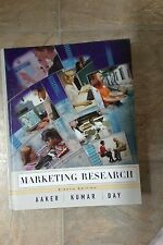 Marketing Research by Aaker, Kumar, and Day 8th Edition (Hardcover 2004)