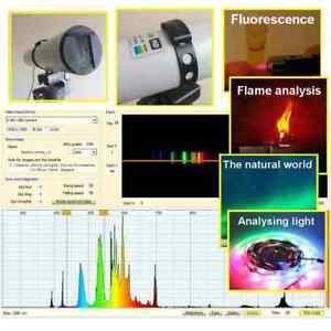 HD Light Spectrometer (UV & IR)  for USB-connection to Windows PC (PRO Bundle)