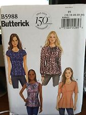 Butterick pattern 5988 Misses Top blouse shirt size 16-24 sleeve variation