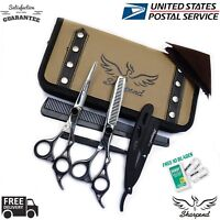 New Professional Hairdressing Scissors Barber Salon Shears SET With Free Razor