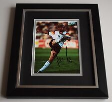 Rudi Voller SIGNED 10X8 FRAMED Photo Autograph Germany Football AFTAL & COA