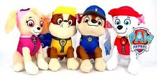 "Nuevo 8"" Paw Patrol PELUCHE ANIMALES JUGUETES DE PELUCHE Set: Chase, Rubble, Marshall & Skye"