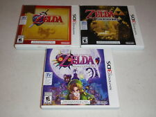Nintendo 3DS Game LOT Zelda Majora's Mask Ocarina of Time 3D Link Between Worlds