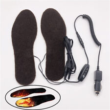 12V Electric Heated Insoles Boot Shoe Pad Heater Car Cigarette Lighter w/ Switch