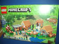 Lego Minecraft 21128 The Village 1600 Pcs 4 Mini Figures