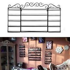 3 in 1 5 Tier Nail Polish Rack Holds 200+ Bottles Wall Display Organizer Black