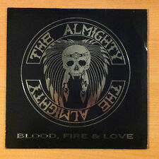 """THE ALMIGHTY  """"Blood, Fire & Love """"- Vinyl Lp 12"""" -Polydor  841 347 1- 1989 UK"""