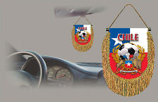 CHILE SOCCER FLAG CAR MINI BANNER, PENNANT