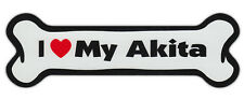 Dog Bone Shaped Car Magnets: I Love My Akita