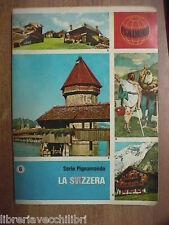 Vecchio quaderno scolastico usato di scuola Da Serie PIGNAMONDO La SVIZZERA del