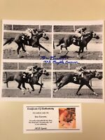 Secretariat - Ron Turcotte Signed Triple Crown B&W Photo w/ Picture COA