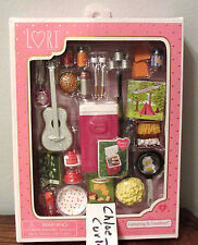 """Lori Doll Camping & Carefree food Cooler Guitar Glamper RV Accessories 6"""" NEW!"""