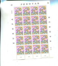 FAROE ISLANDS  20 5.50 STAMP SCOTT 144 FULL SHEET MNH