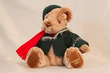 Godiva 2003 Teddy Bear Plush Toy Dollin Green Hat & Jacket (Red Scarf)