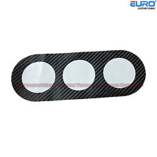 Black Carbon Fiber Dash Gauge  AC Air Panel Viny Decal for 08-15 Lancer EVO X 10