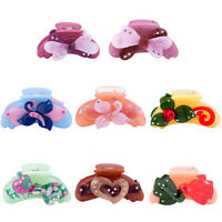 Lady Butterfly Hair Claw Clamps Clip Claw Clamp Banana Clip Ponytail Holder