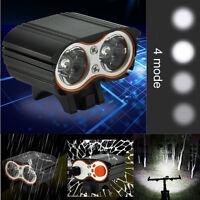 True 2000LM 2 X XM-L T6 LED USB Waterproof Lamp Bike Bicycle Headlight Light US