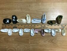 """Vintage 1950s Lot of Ten pair 10 Baby doll shoes for 13"""" 15"""" 16"""" 20"""" 22"""" 24"""" Euc"""