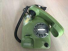 Coole Telefon Lampe Wählscheibe Siemens  30054 Grün  Vintage Retro Design Orange
