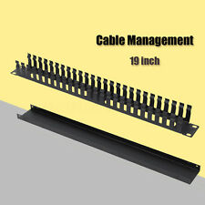 "1U Horizontal Rack Mount Cable Management Unit Panel metal 19"""