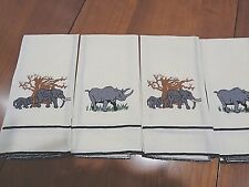 Matched Set of 4 100% Linen Hand Towels