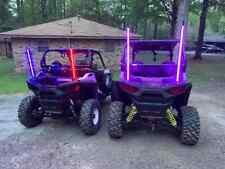 Bluetooth 2FT RGB LED Lighted Antenna Light Whip Flag ATV UTV Polaris RZR Buggy