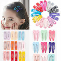 20pcs Candy Colors Lovely Girls Bobby Pin Barrette Hairpin BB Snap Hair Clips US