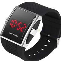 LED Cheap Luxury Men's LED Digital Sports Quartz Waterproof Wrist Watch Black MY