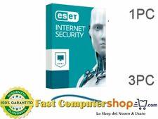 ESET NOD32 INTERNET SECURITY per 1PC / 3PC - Fatturabile