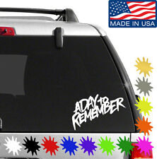 A Day To Remember Band Vinyl Decal Sticker BUY 2 GET 1 FREE Choose Size & Color