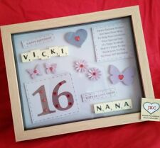 16th BIRTHDAY PERSONALISED GIFT FRAME PICTURE PHOTO KEEPSAKE PRESENT