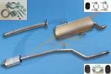 PEUGEOT 206 CC 1.6i 16V 2000-2005 Silencer set + mounting kit