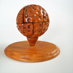Wooden Golf Ball #D Puzzle