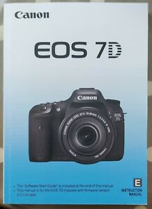 Canon EOS 7D Manual - Printed & Professionally Bound Size A5 - NEW 196 Pages