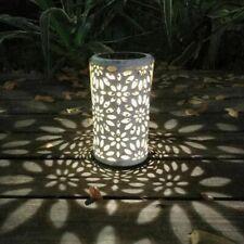 Solar Powered Lantern Hanging Lamp Outdoor Garden Light Waterproof Indoor Yard