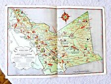 1883 CA Map Blythe Bonita Bostonia Cameron Park Capitola CALIFORNIA History HUGE