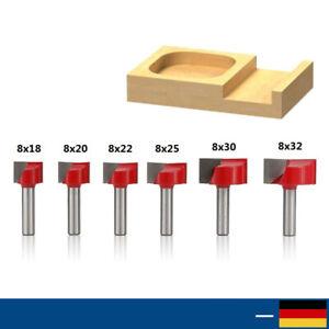 Oberfräse Fräser 8mm Schaft T-Schlitz Hartmetall-Fräsbits für Holzbearbeitung