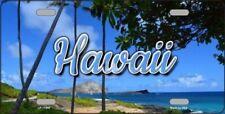 PLAQUE DE VOITURE AMERICAINE-HAWAII -BEACH - DECORATION USA/ BIKER