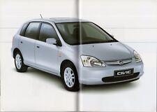 Honda Civic 5-dr 2000-01 UK Market Sales Brochure Executive SE S 1.4 1.6