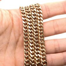 """Mens 10k Yellow Gold Miami Cuban Link Chain Necklace 28"""", 6.6 MM 30.6 Grams"""
