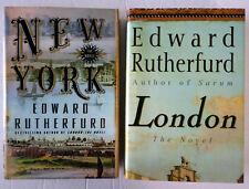 Edward Rutherfurd Lot 2 HC/DJ: London 1997 ~ New York 2009