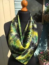 100% pure silk,handpainted,gorgeous floaty scarf.90x90cm.Xmas wrapping available
