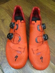 SPECIALIZED S-WORKS 7 BOA ROAD  CYCLING SHOES EURO MENS 45  / 11.5 RED