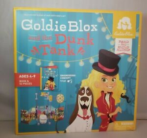 Goldie Blox and the Dunk Tank Read and Build Along Book & 52 Pieces Ages 4-9