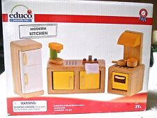 Educo Modern Kitchen~Wooden Dollhouse Furniture~New in Box