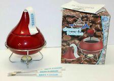 Hershey's Chocolate Kisses Dessert Fondue Kiss Set Ceramic Stand Cover Forks
