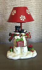 Yankee Candle Snowman Couple Lamp Love Never Melts Tea Light Holder 1264632