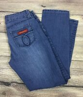 SASSON Jeans Straight Leg Hustle Distressed Wash Ooh La La Size 4