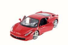 FERRARI 458 ITALIA RED 1/24 SCALE DIECAST CAR BY BBURAGO 26003D
